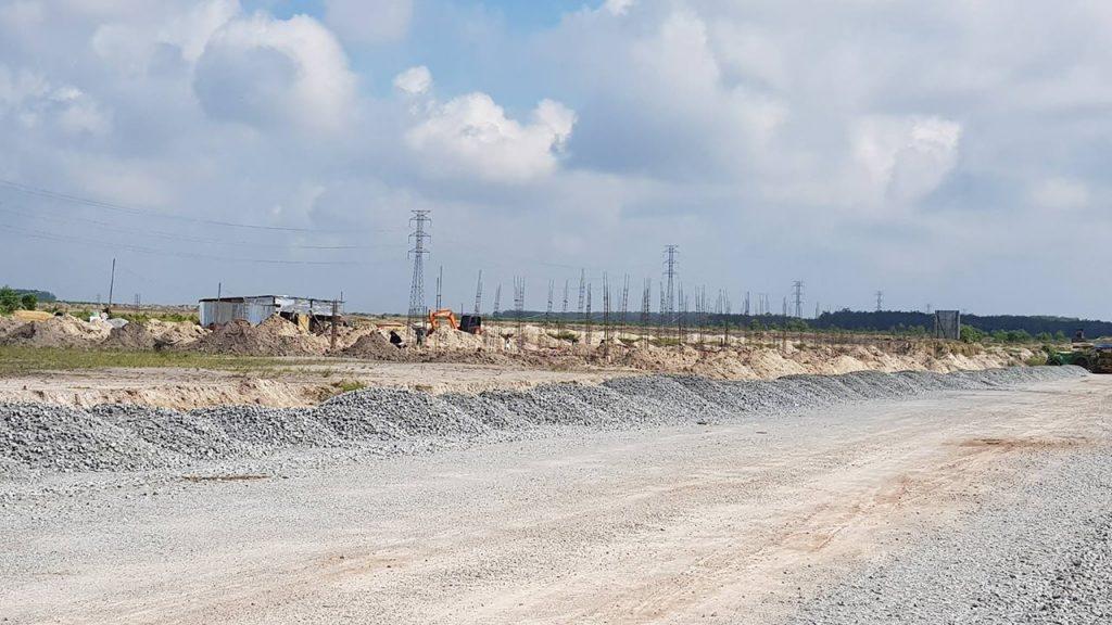 Công trình đang thi công của giai đoạn 1 tại Chơn Thành, tỉnh Bình Phước.